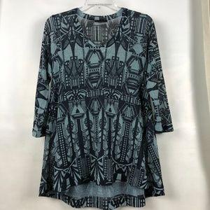 Nally & Millie lightweight art deco tunic sweater